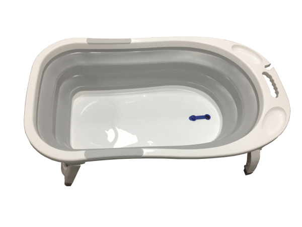 bañera plegable gris1